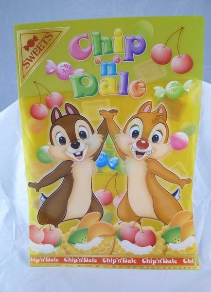 【震撼精品百貨】Chip N Dale_奇奇蒂蒂松鼠~文件夾『黃』