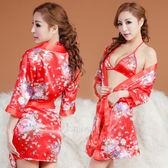 日式和服睡衣 繽紛戀情!四件式和服睡衣組 角色扮演服 情趣睡衣【535343】