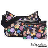 LeSportsac - Standard側背水餃包/流浪包-附化妝包 (甜點工廠) 7520P F025