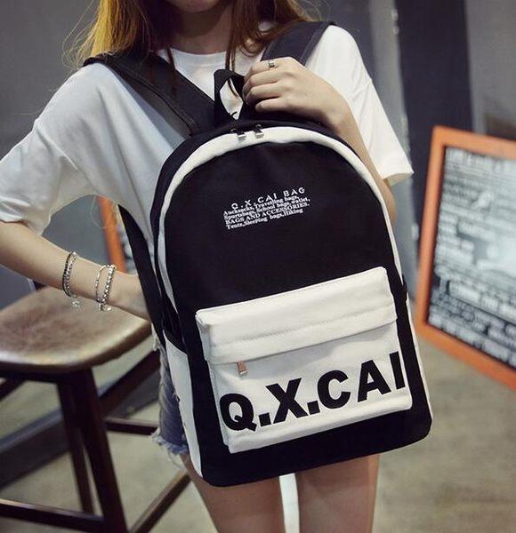 【TT】後背包 韓版學院風休閒帆布包 大容量後背包 手提包4色