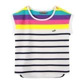 『小鱷魚童裝』跳色條紋T恤(08號~18號)533451