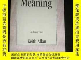 二手書博民逛書店Linguistic罕見Meaning Volume OneY16149