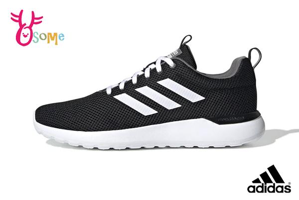 adidas LITE RACER CLN 成人男女款 情侶 經典三線造型 運動鞋 慢跑鞋 R9328#黑色◆OSOME奧森鞋業
