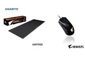技嘉AORUS M3 RGB電競遊戲滑鼠+技嘉 AMP900 加長款 電競滑鼠墊 防水布