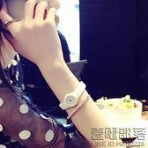 米納小錶盤陶瓷手錶女錶白色韓版時尚學生女士手錶防水石英錶手鏈【萊爾富免運】