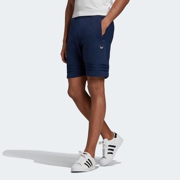 J- adidas ORIGINALS SILVER OUTLINE 深藍 復古 運動 短褲 男款 FM3925