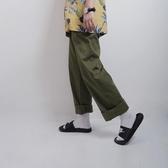 日系復古男士ulzzang寬鬆韓版休閒褲直筒闊腳褲美式BF工裝九分褲 草莓妞妞