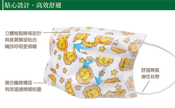 【奇買親子購物網】小獅王辛巴simba幼兒3層防護口罩