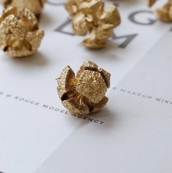 永生花花材,DIY材料,聖誕節金色配果,直徑約1-3公分,一份一大一小