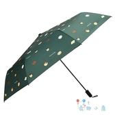 手動雨傘女簡約傘折疊女遮陽傘防紫外線摺疊傘【奇趣小屋】