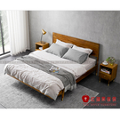 [紅蘋果傢俱]MG1784 金絲檀木(胡桃木紋)系列 6尺床架 雙人床 床台 大板床 北歐 實木 現代簡約風