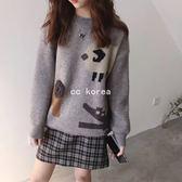 雙面針織 高品質動物毛衣 CC KOREA ~ Q24731