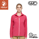 【Wildland 荒野 女 N66彈性透氣抗UV外套《桃紅》】0A81901/防曬夾克/防潑水薄外套/運動外套