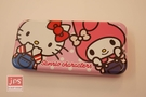 SANRIO 三麗鷗家族 吊帶褲好朋友 超大雙層筆盒 鉛筆盒 鐵筆盒 KRT-215709B