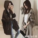 風衣 中長款女韓版學生2020年秋裝百搭新款春秋寬鬆連帽薄款bf風衣外套 歐歐