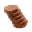 芬多森林|限量台灣檜木杯墊,M版六片組,用原木分享森林木紋的溫度,高品質雷射雕刻客製