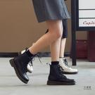 馬丁靴 新款英倫風馬丁靴女秋冬加絨百搭厚底短靴靴子 限時優惠