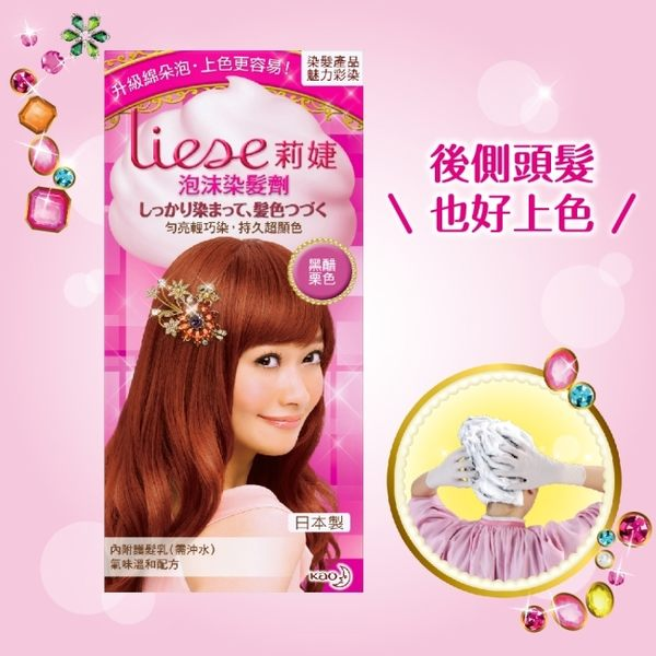 LIESE【莉婕】泡沫染髮劑 魅力彩染系列 黑醋栗色 (34ml+66ml+8g)