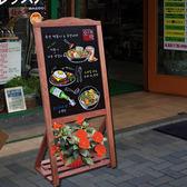 咖啡色立式小黑板 新店鋪開業促銷活動宣傳板廣告板 寫熒光筆粉筆