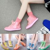 雨鞋 雨鞋女夏春秋雨靴防滑平跟短筒防水鞋透明糖果水靴水鞋膠鞋 伊芙莎