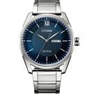 CITIZEN星辰 GENT'S 經典格紋紳士腕錶 AW0081-89L