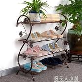 鐵藝鞋架多層大中學生宿舍門口經濟型好看家用防塵收納鞋架子簡約 ATF錢夫人小鋪