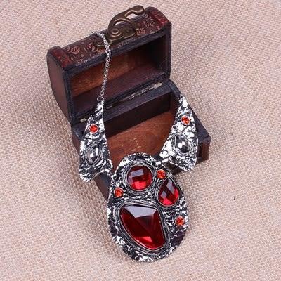 項鍊鍍銀+耳環-高貴復古精美寶石女毛衣鍊73nt28[時尚巴黎]