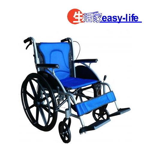 富士康機械式輪椅(未滅菌)鋁製輪椅 B款補助 塑鋼小輪可折背 高透氣可拆坐背墊輪椅FZK-3500