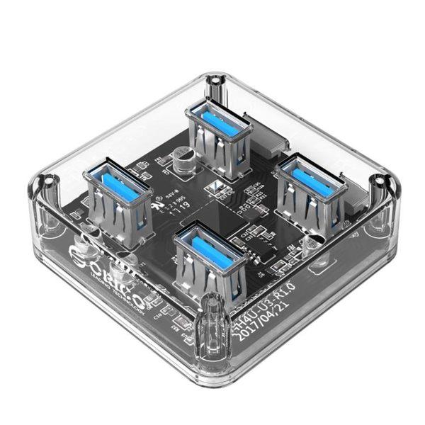 ORICO usb分線器3.0一拖四hub多接口轉換器筆記本電腦集線擴展器 3C優購