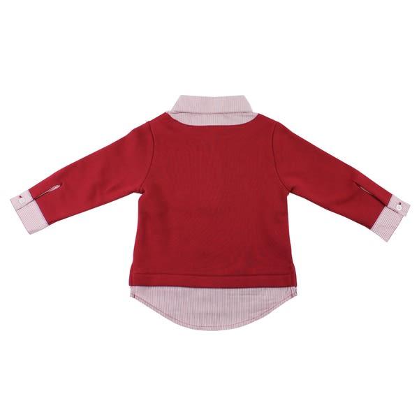 【愛的世界】皮斯卡托假兩件襯衫長袖上衣/S號-台灣製- ★秋冬上著 開運定著