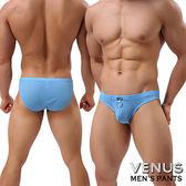 情趣用品-商品買送潤滑液*2♥女帝♥VENUS透氣網孔男士內褲性感三角褲藍情趣用品