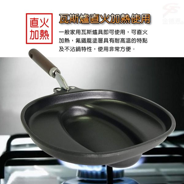 金德恩 台灣製造 簡易料理日式蛋包飯神器/煎盤