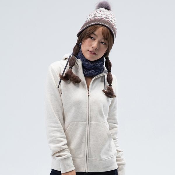 PolarStar 女 刷毛保暖外套『米白』 P18206 戶外 休閒 登山 露營 保暖 禦寒 防風 連帽