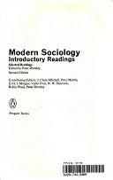 二手書博民逛書店《Modern Sociology: Introductory Readings : Selected Readings》 R2Y ISBN:0140227571