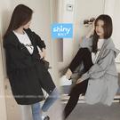 【V9367】shiny藍格子-秋搭休閒...