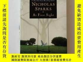二手書博民逛書店At罕見First Sight 尼古拉斯 斯帕克斯 親筆簽名 美國的瓊瑤阿姨Y369207 Nicholas