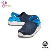 Crocs卡駱馳 洞洞鞋 童鞋 LiteRide 園丁鞋 軟底 防水布希鞋 女鞋可穿A1740#藍色◆OSOME奧森鞋業