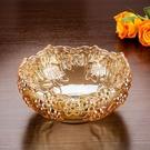 尺寸超過45公分請下宅配金色奢華歐式大號水晶玻璃水果盤 現代客廳