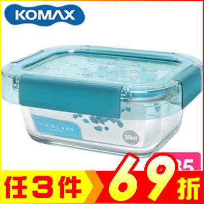 韓國 KOMAX 冰鑽長形強化玻璃保鮮盒 綠 385ml 60048【AE02273】JC雜貨