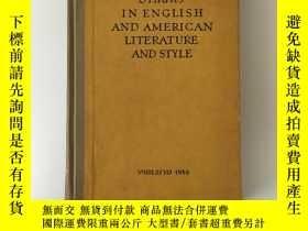 二手書博民逛書店Studies罕見in English and American Literature and StyleY2