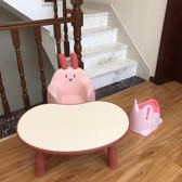 正韓兒童學習花生桌寶寶游戲防撞可升降調節桌子幼兒園寫字書桌