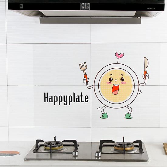 透明卡通圖防油貼紙 廚房 牆面 抽屜 桌面 灶台 耐高溫 自黏貼紙 瓷磚【Q156】MY COLOR