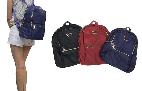 ~雪黛屋~COUNT 後背包中容量可放A4紙二層主袋水瓶外袋可8吋平板防水水晶布材質BCD5000520900