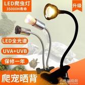 烏龜曬背燈現貨爬蟲全光譜太陽燈泡UVA UVB爬寵補鈣三合一陸龜加熱LED 小宅妮