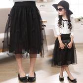 女童半身裙 紗裙蓬蓬裙中大童短裙