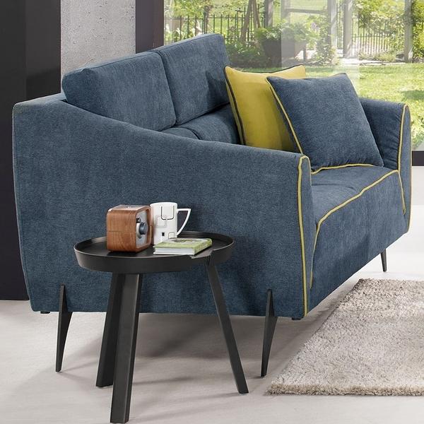 【森可家居】依爾莎沙發雙人椅(單只) 8CM702-7 二人座 布沙發