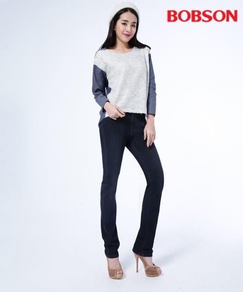 BOBSON 女款保暖高腰膠原蛋白美肌小直筒褲(8096-52)