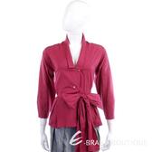 KENZO紫紅色腰間綁帶設計襯衫 0910240-87