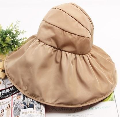 [協貿國際]韓國可折疊涼帽遮陽帽防曬帽子卡其色