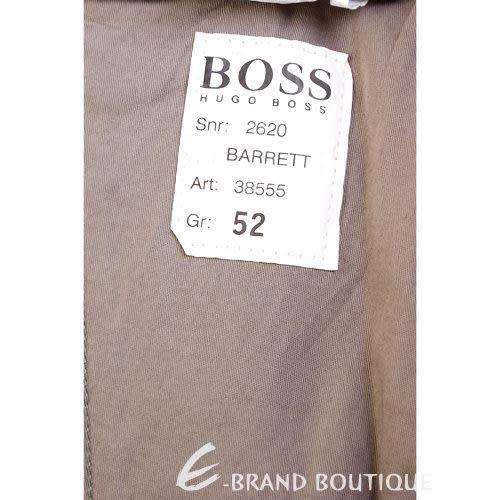 BOSS 立體條紋休閒長褲(褐色) 0580019-07